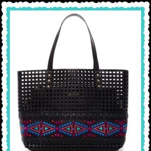 STEVE MADDEN AZTEC PERFORATED TOTE